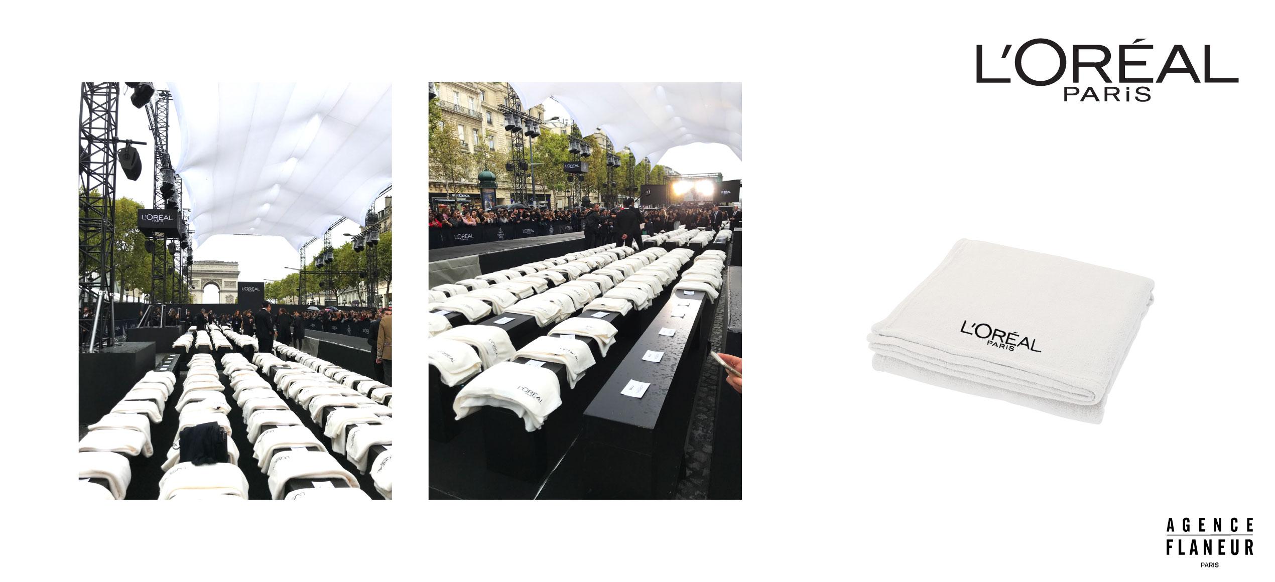 AGENCE FLANEUR L'OREAL PARIS PLAIDS FASHION SHOW CHAMPS-ELYSEES